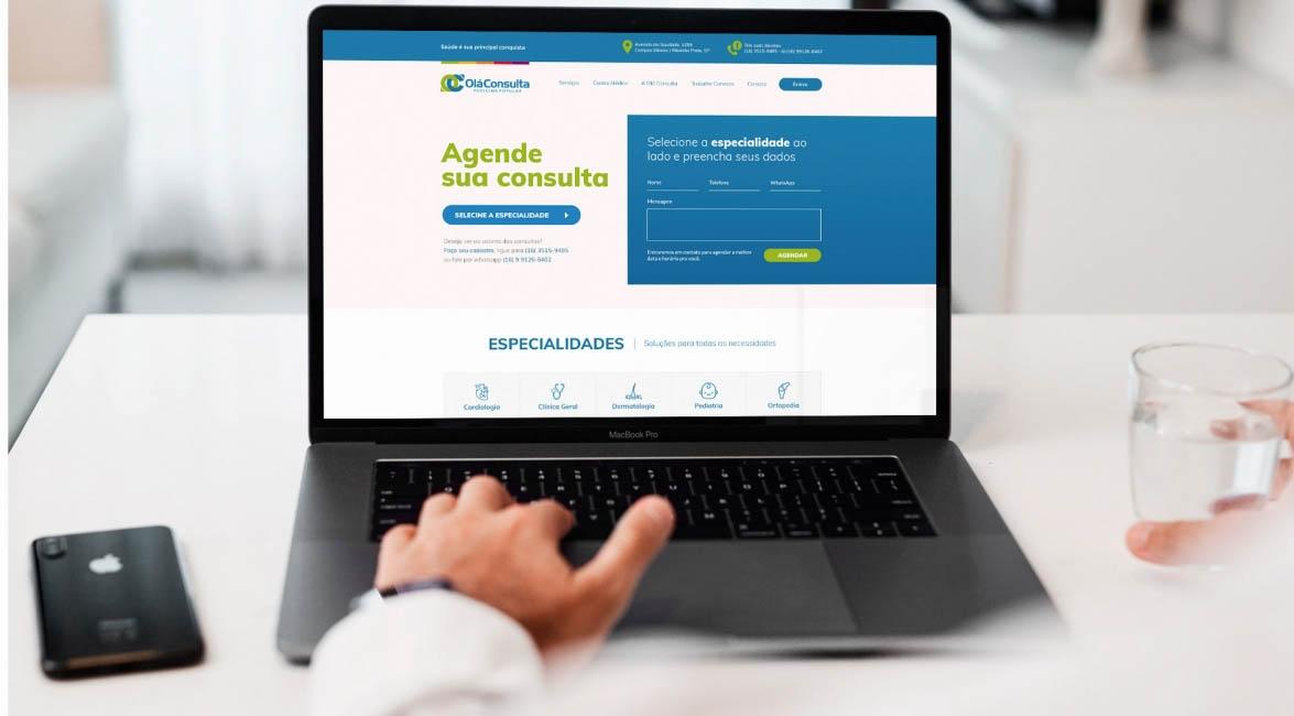 Case de Website Olá Consulta