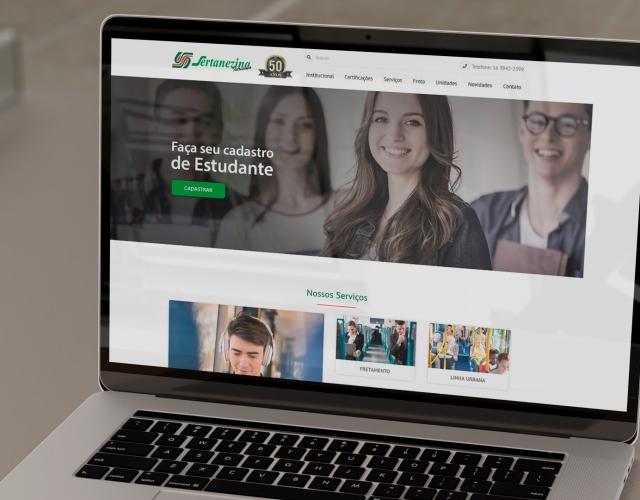 Desenvolvimento Website Viação Sertanezina