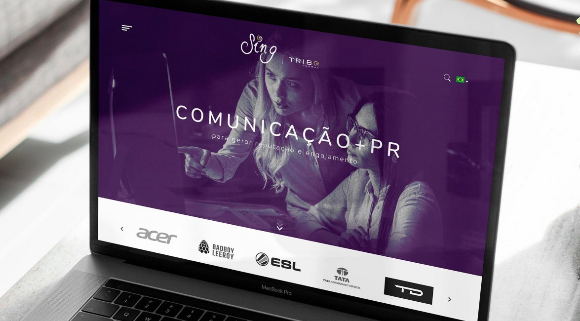 Case de Website Sing Comunica
