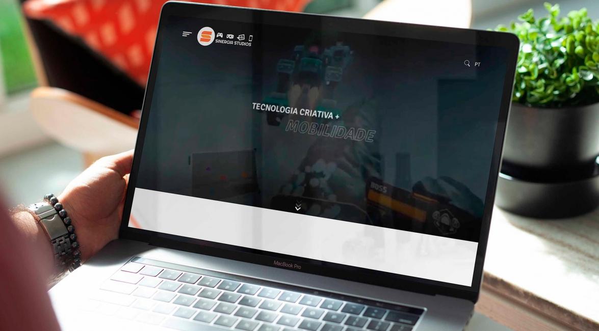 Criação Website Sinergia Studios
