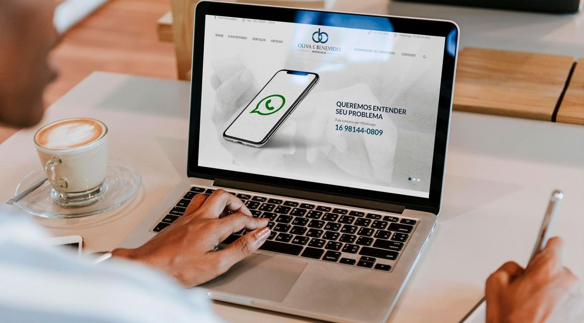 Criação Website Oliva e Benevides