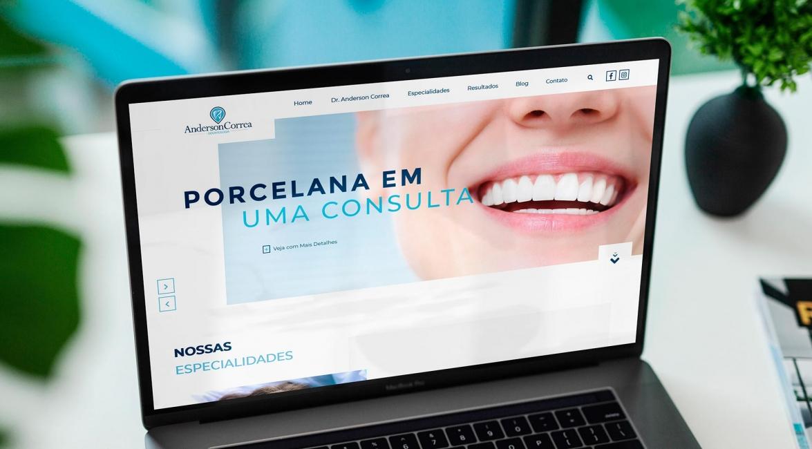 Criação Website Dr Anderson Correa