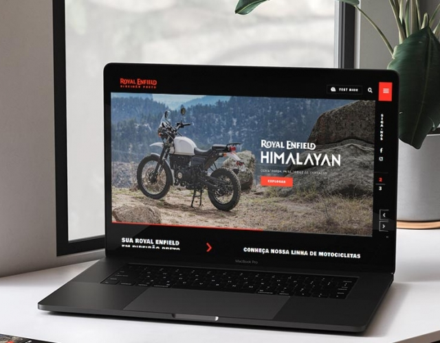 Case de Website Royal Enfield Ribeirão Preto