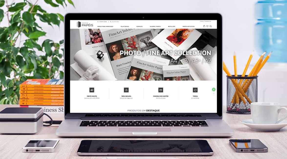 Case de loja virtual FotoArte Papéis