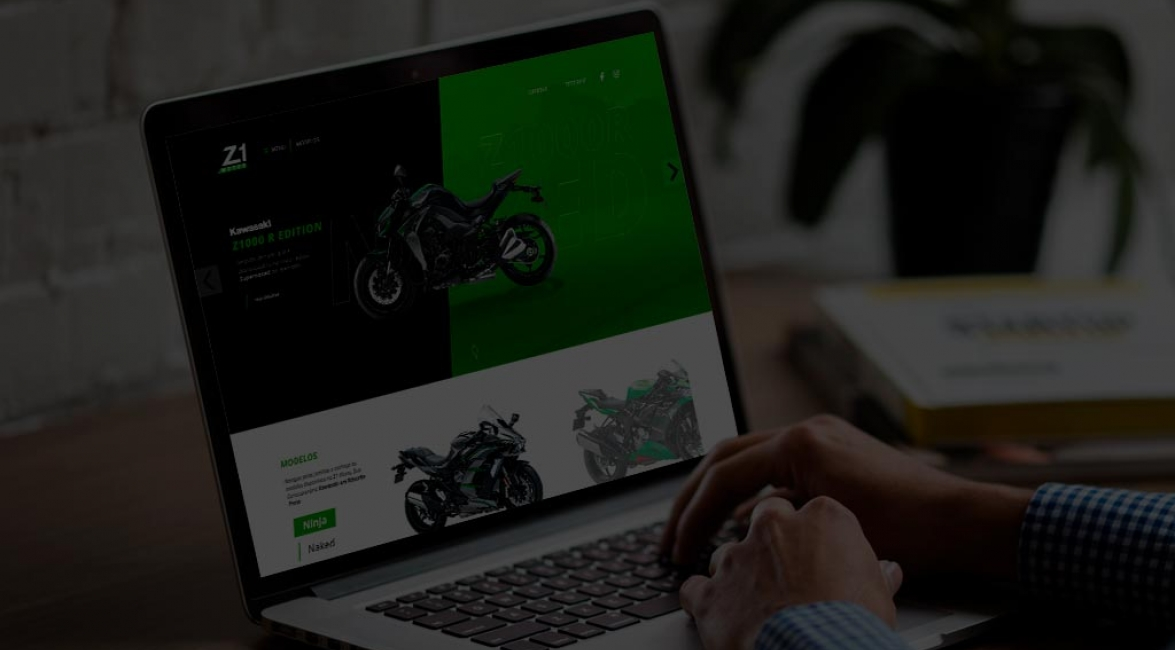 Case de Website Z1 Motos